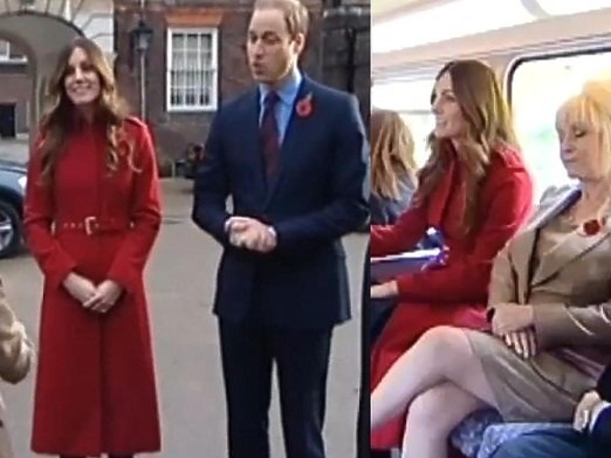 Księżna Kate i książę William w londyńskim autobusie