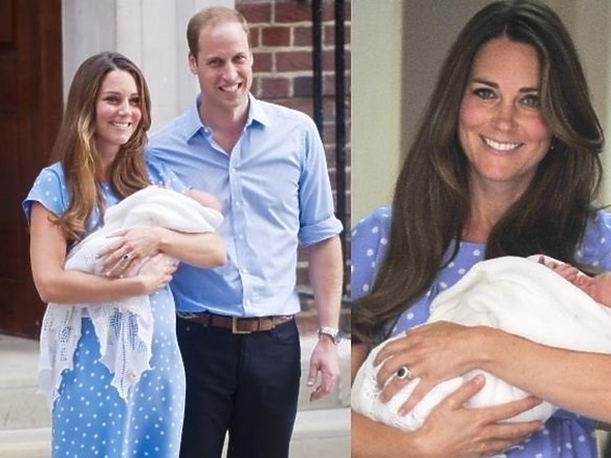 Księżna Kate i Książe William z synem Georgem Alexandrem Louisem