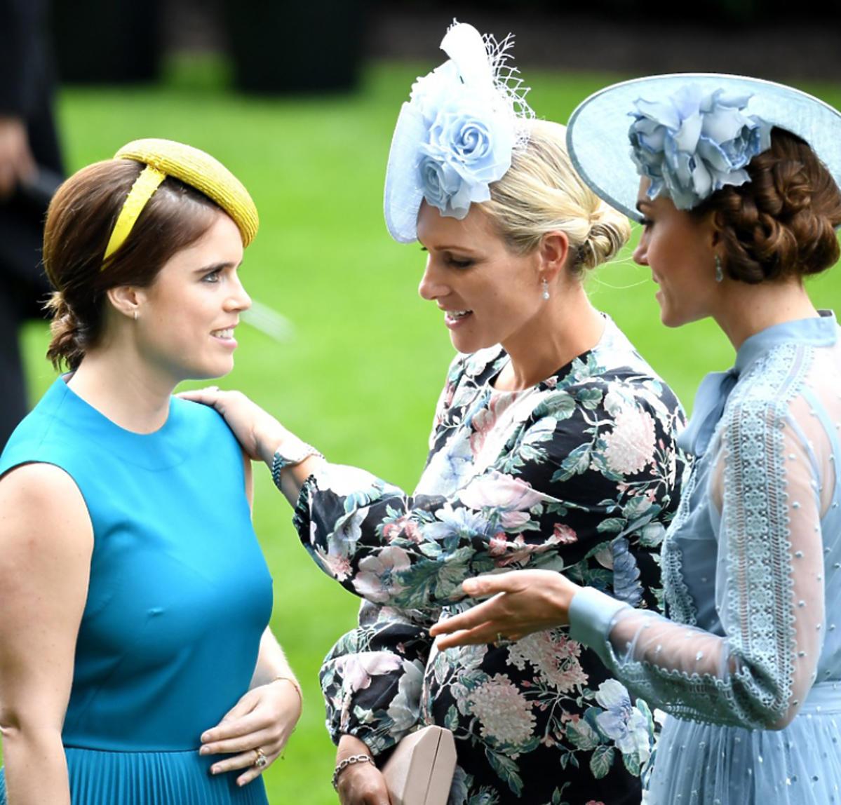 księżna Kate i księżniczka Eugenia rozmawiają