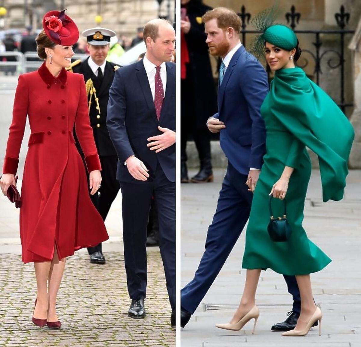 Księżna Kate i Megan Markle w różnych stylizacjach na dniu Wspólnoty Narodów