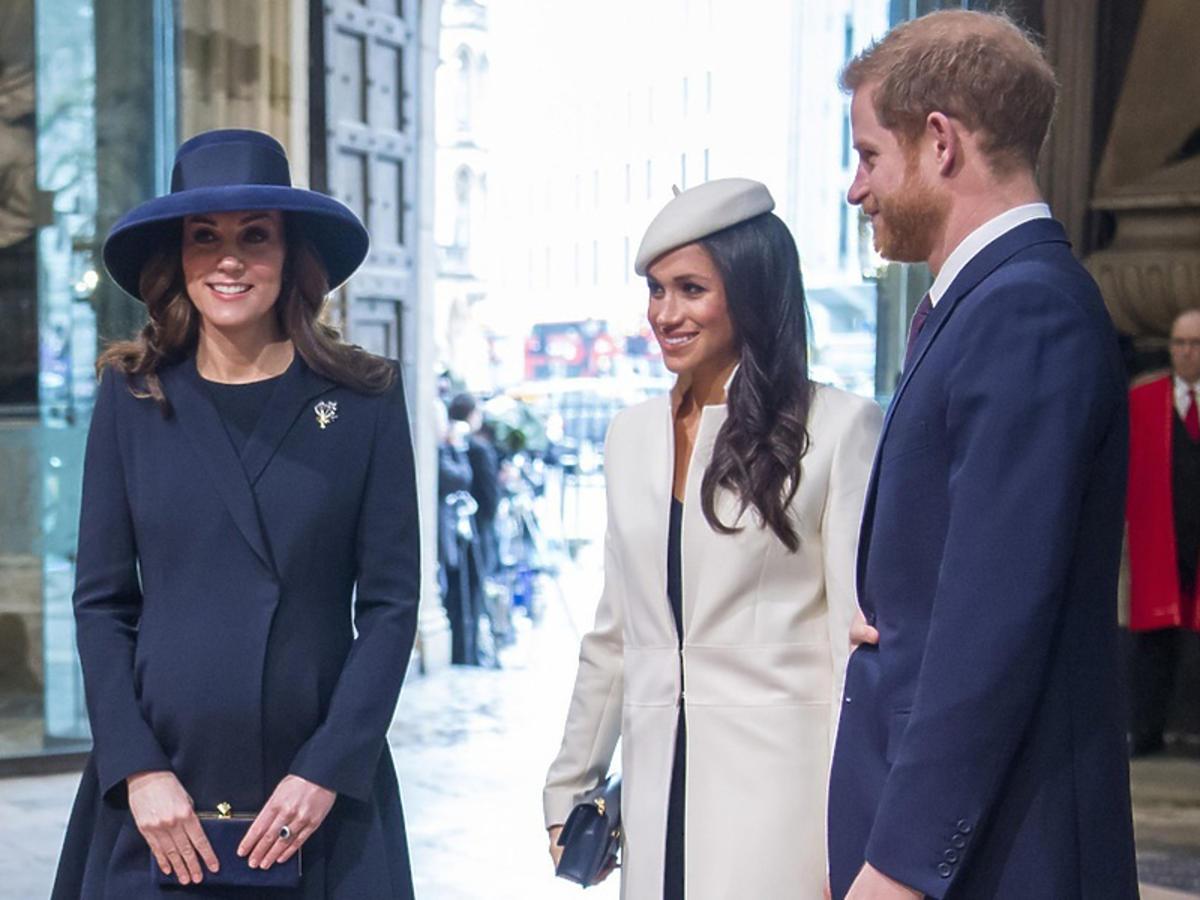 Księżna Kate i Meghan Markle w kościele