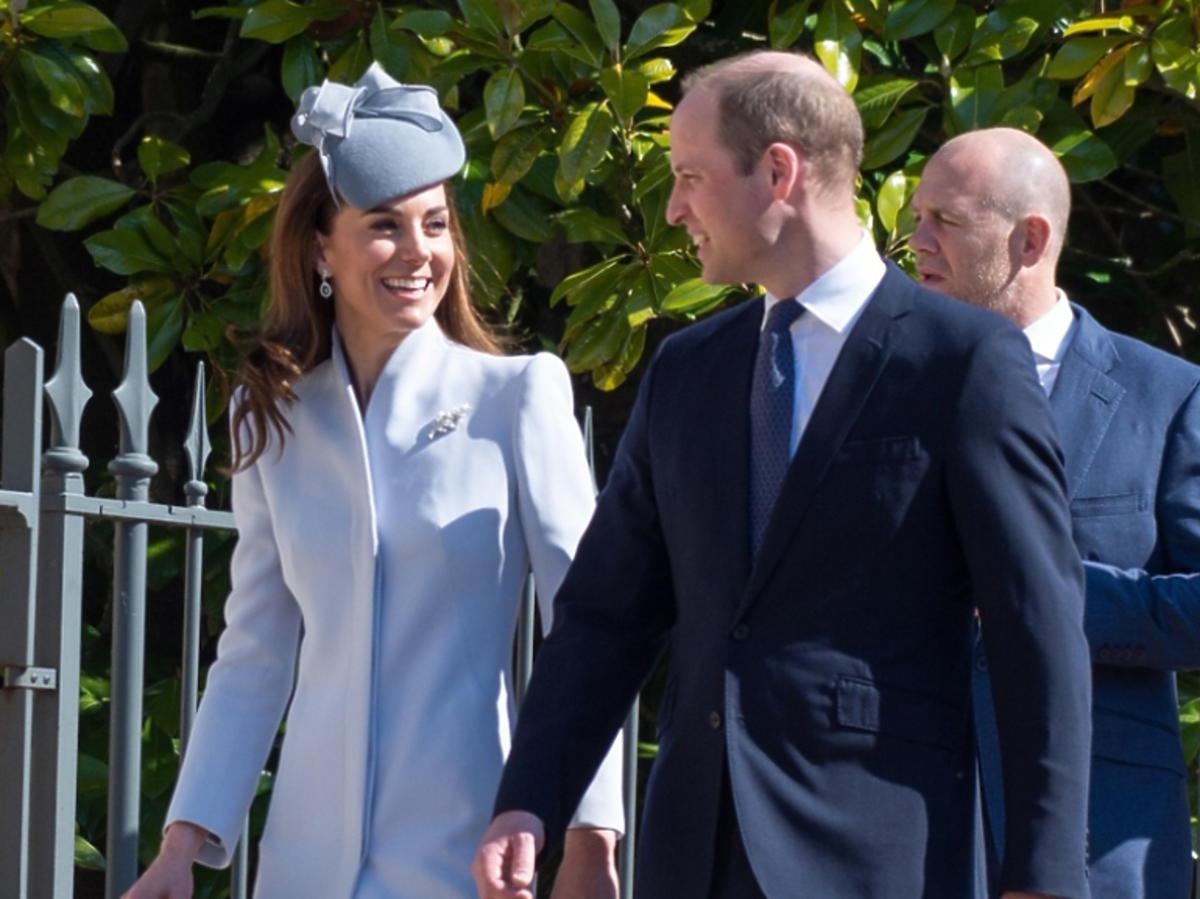 księżna Kate, książę William idą na mszę