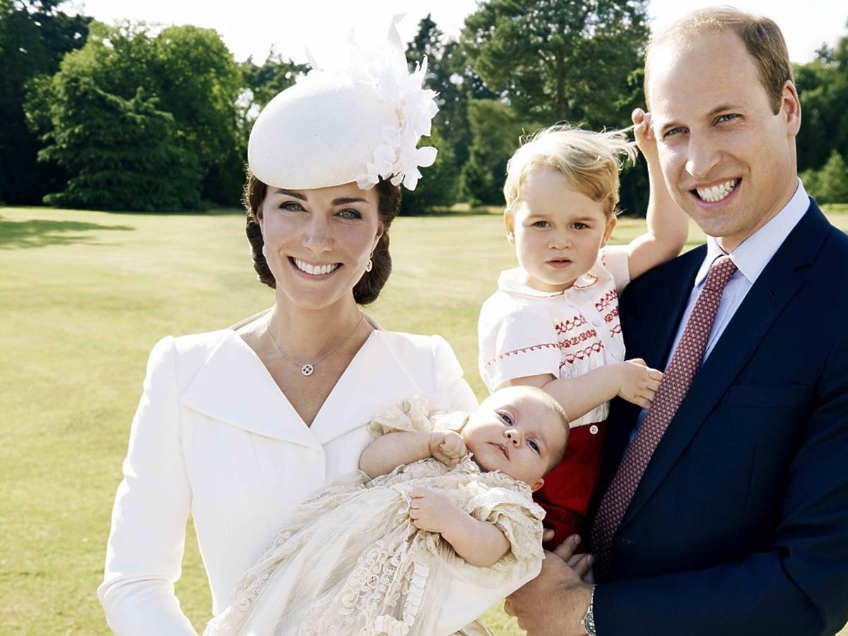 księżna Kate, książę William, księżniczka Charlotte, książę Geroge