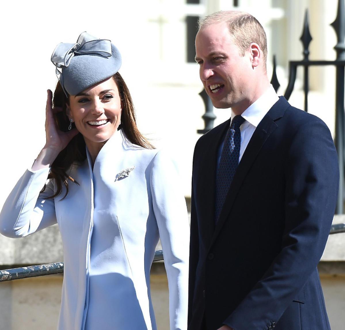 księżna Kate, książę William na wielkanocnej mszy