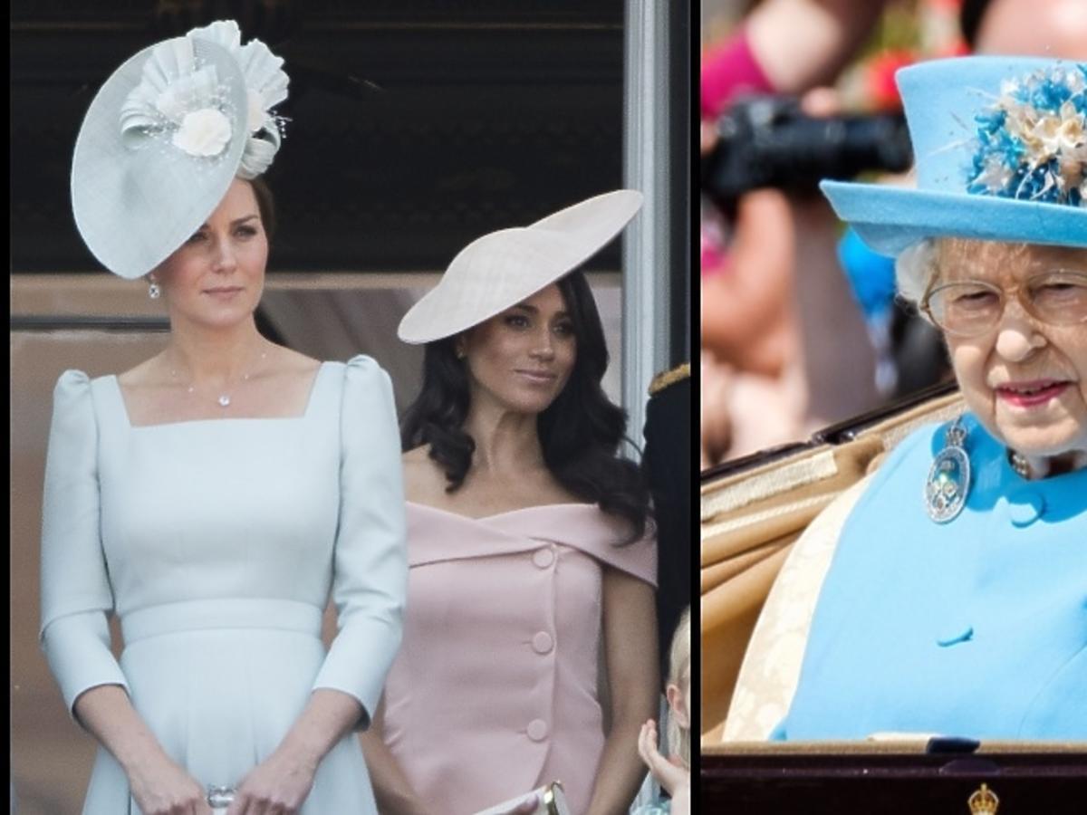 księżna Kate, Meghan Markle, królowa Elżbieta II
