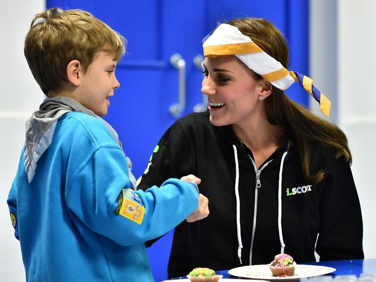 Księżna Kate na sportowo