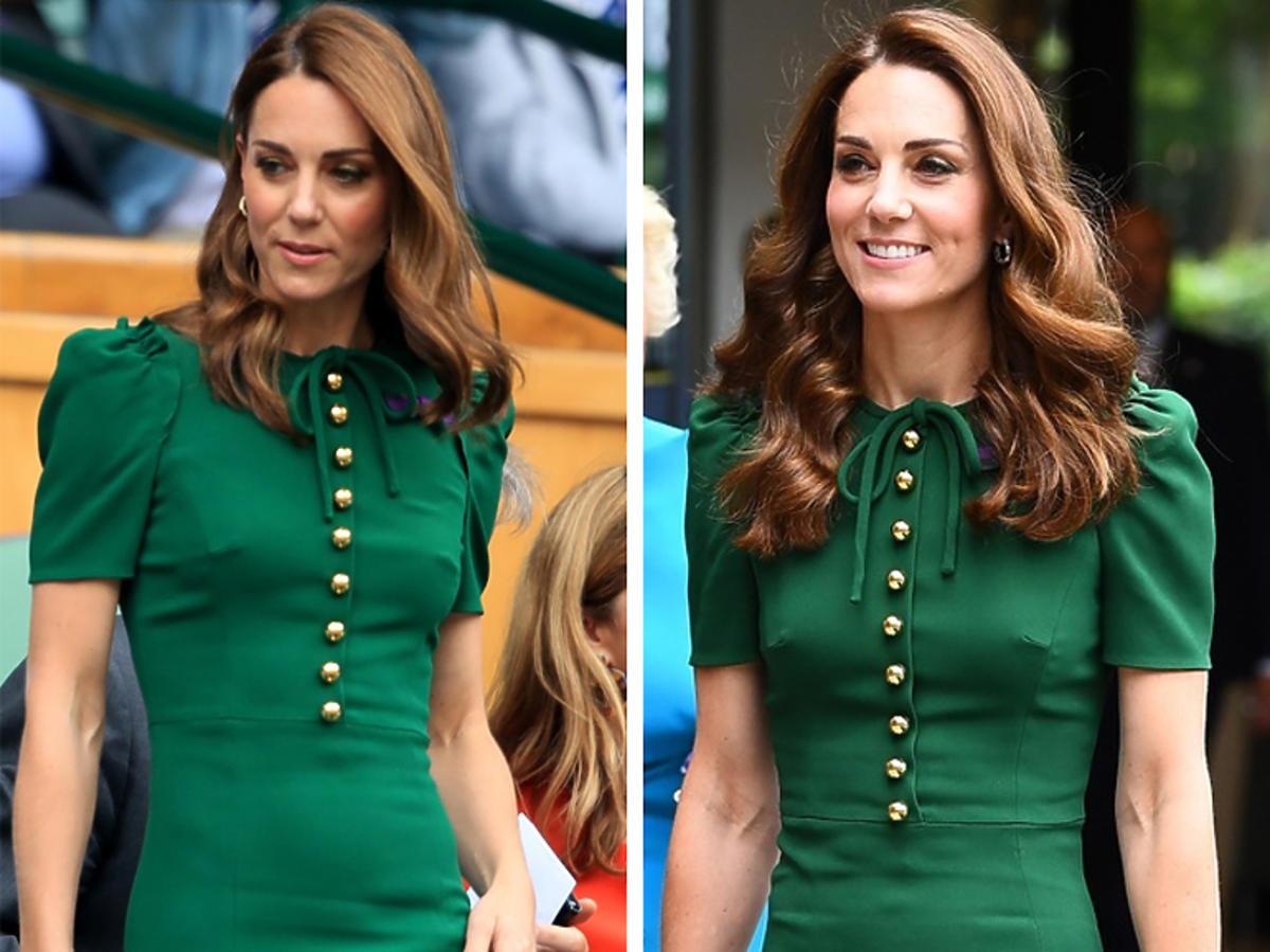 Księżna Kate na Wimbledonie w zielonej sukience