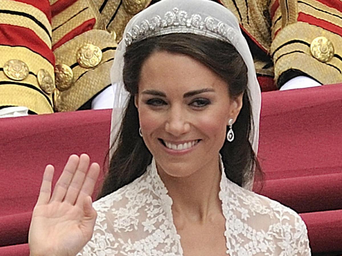 Księżna Kate podczas ślubu