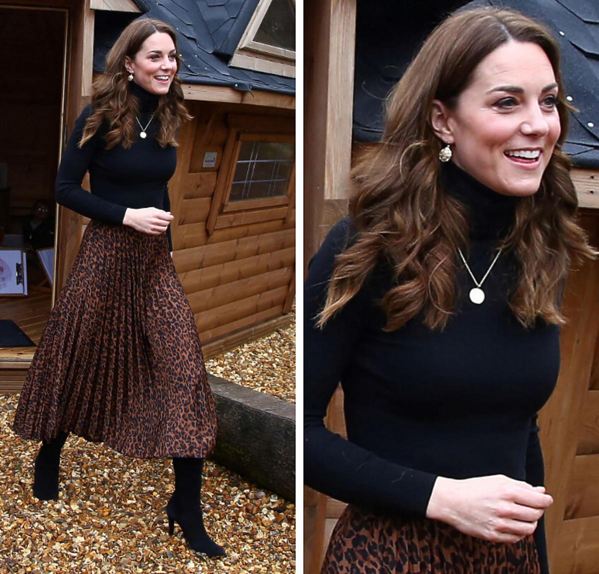 Księżna Kate spódnica Zara