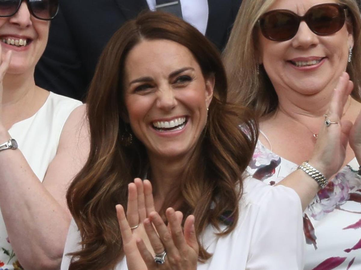 księżna Kate szczęśliwa na Wimbledonie