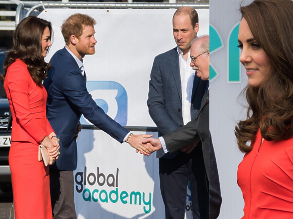 Księżna Kate w czerwonym komplecie