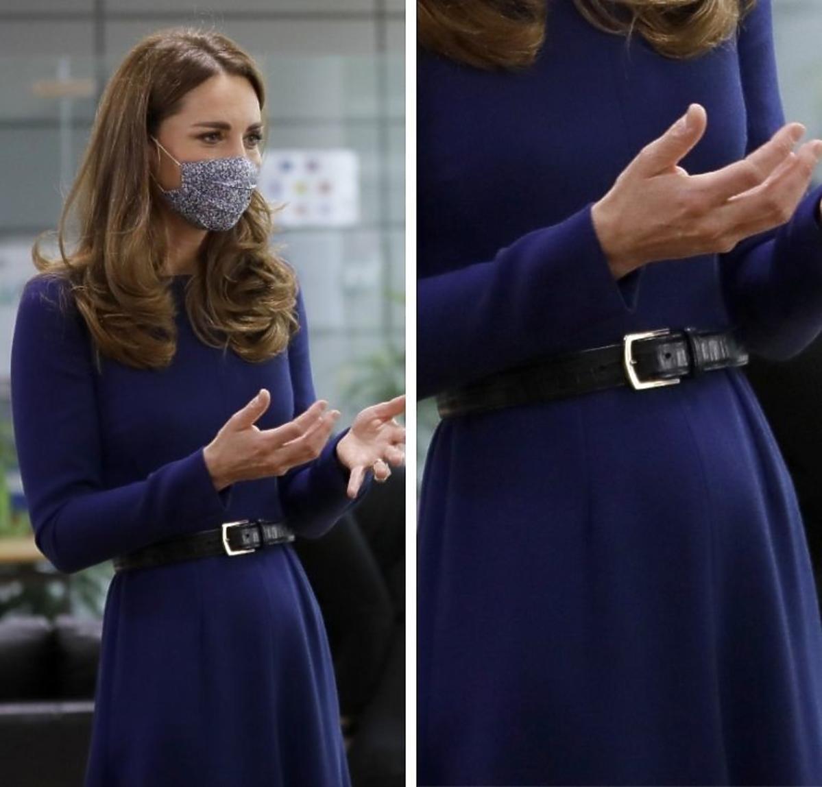 Księżna Kate w czwartej ciąży. Widać już brzuszek