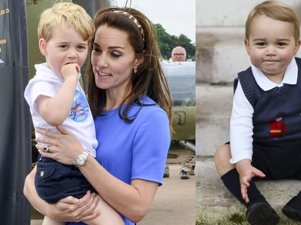 Księżna Kate w granatowej sukience