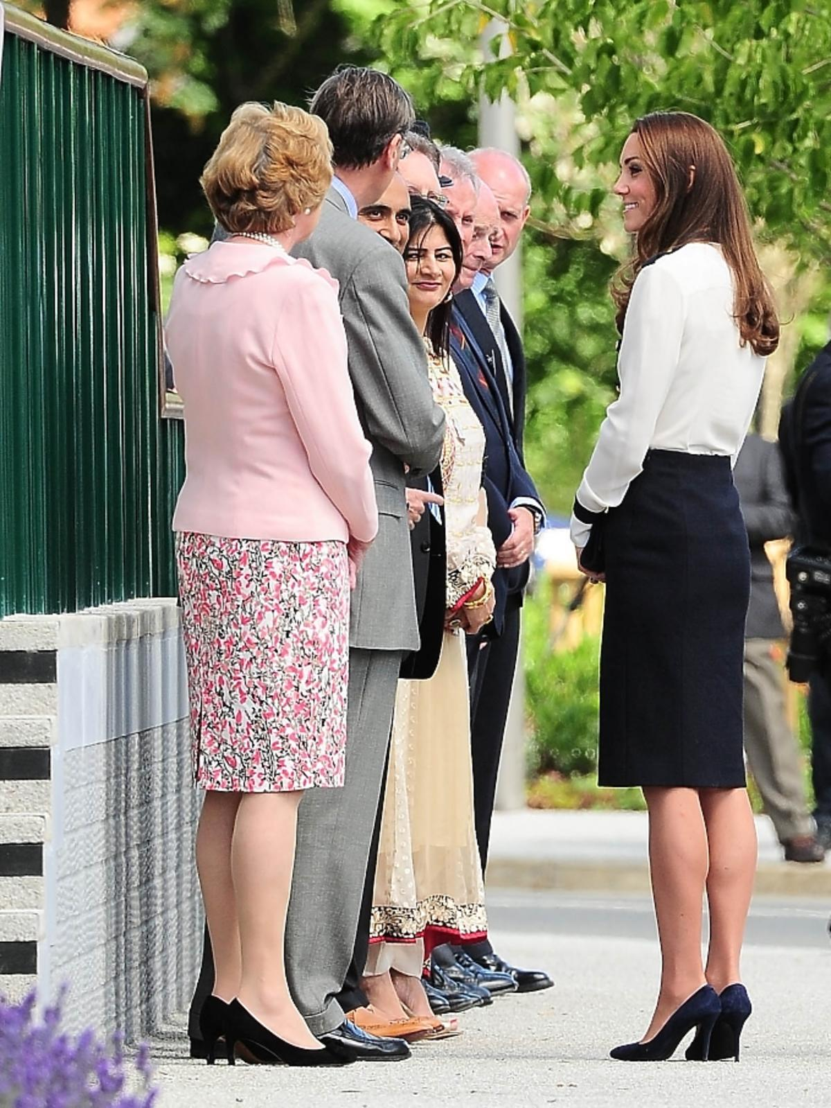 Księżna Kate w Parku Bletchley w Milton Meynes