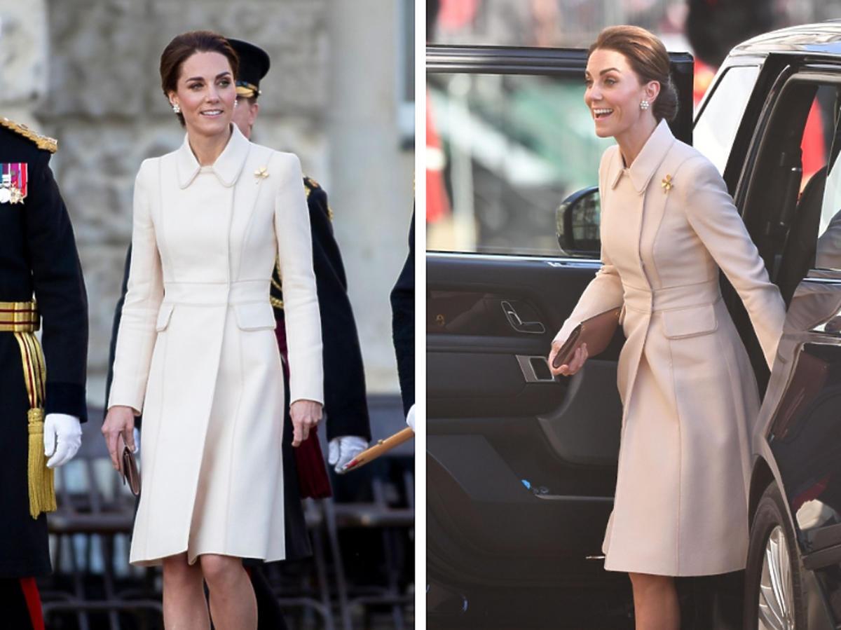 Księżna Kate w płaszczu