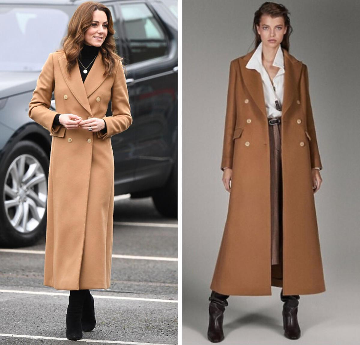 Księżna Kate w płaszczu Massimo Dutti