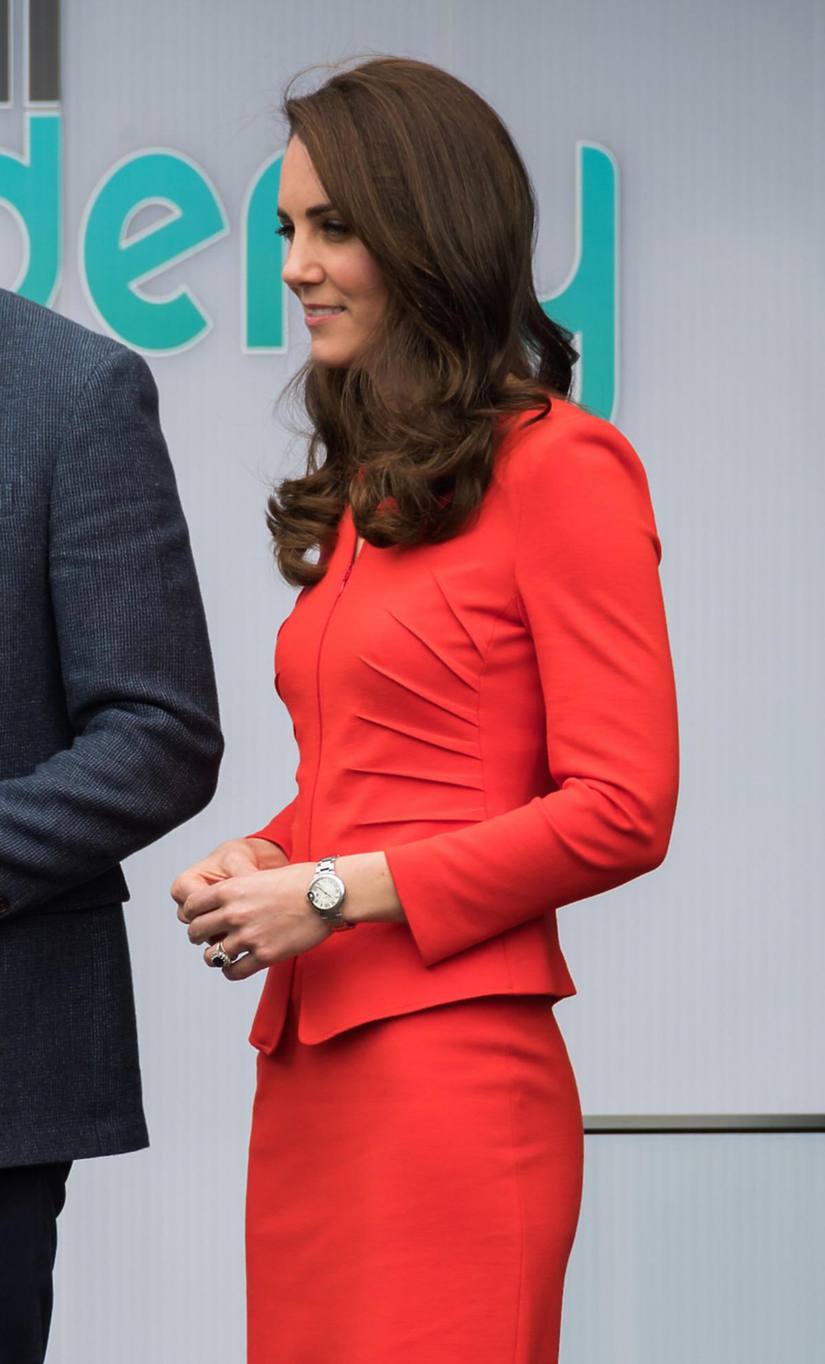 Księżna Kate w rozpuszczonych włosach