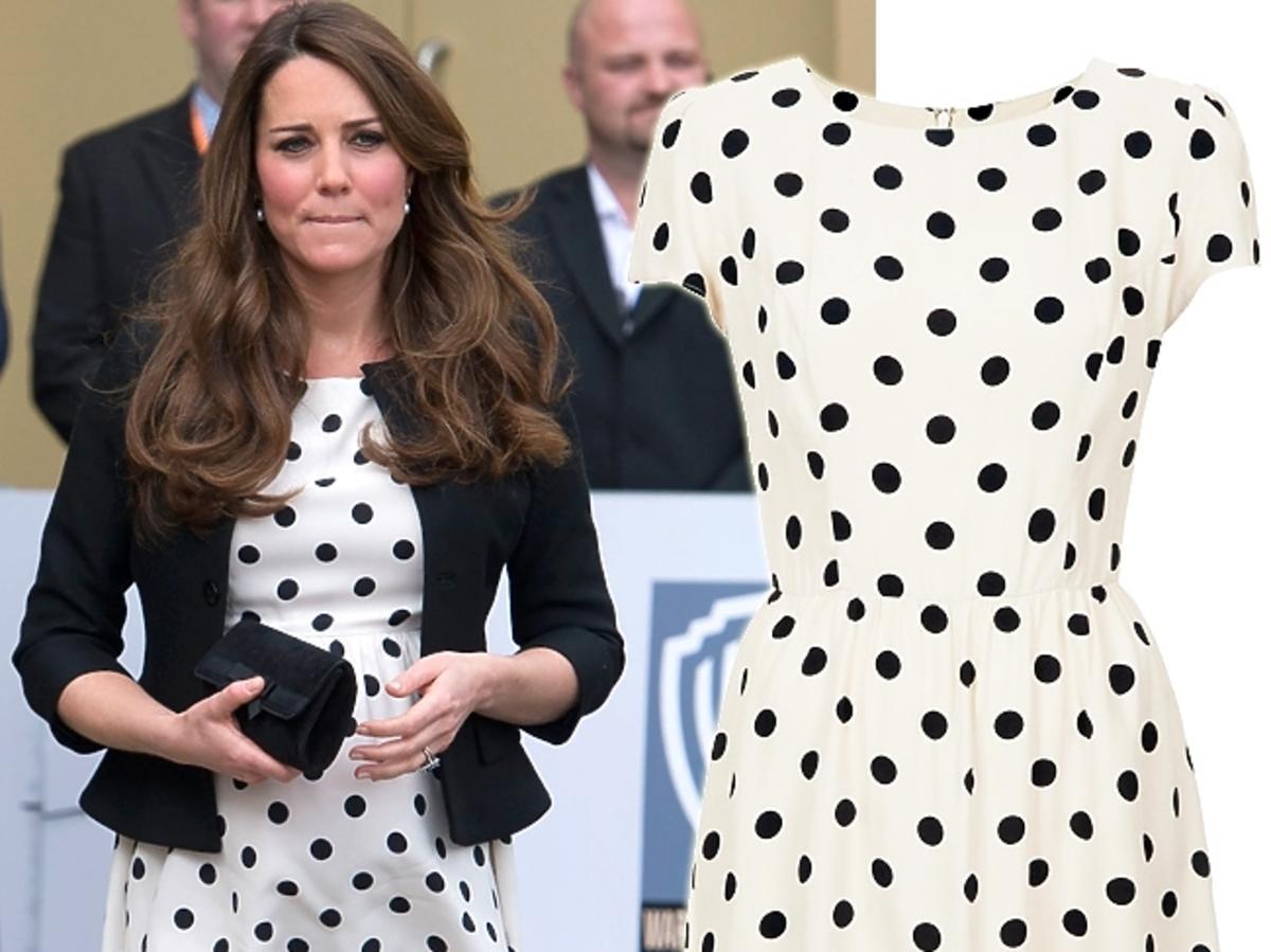 księżna Kate w sukience Topshop