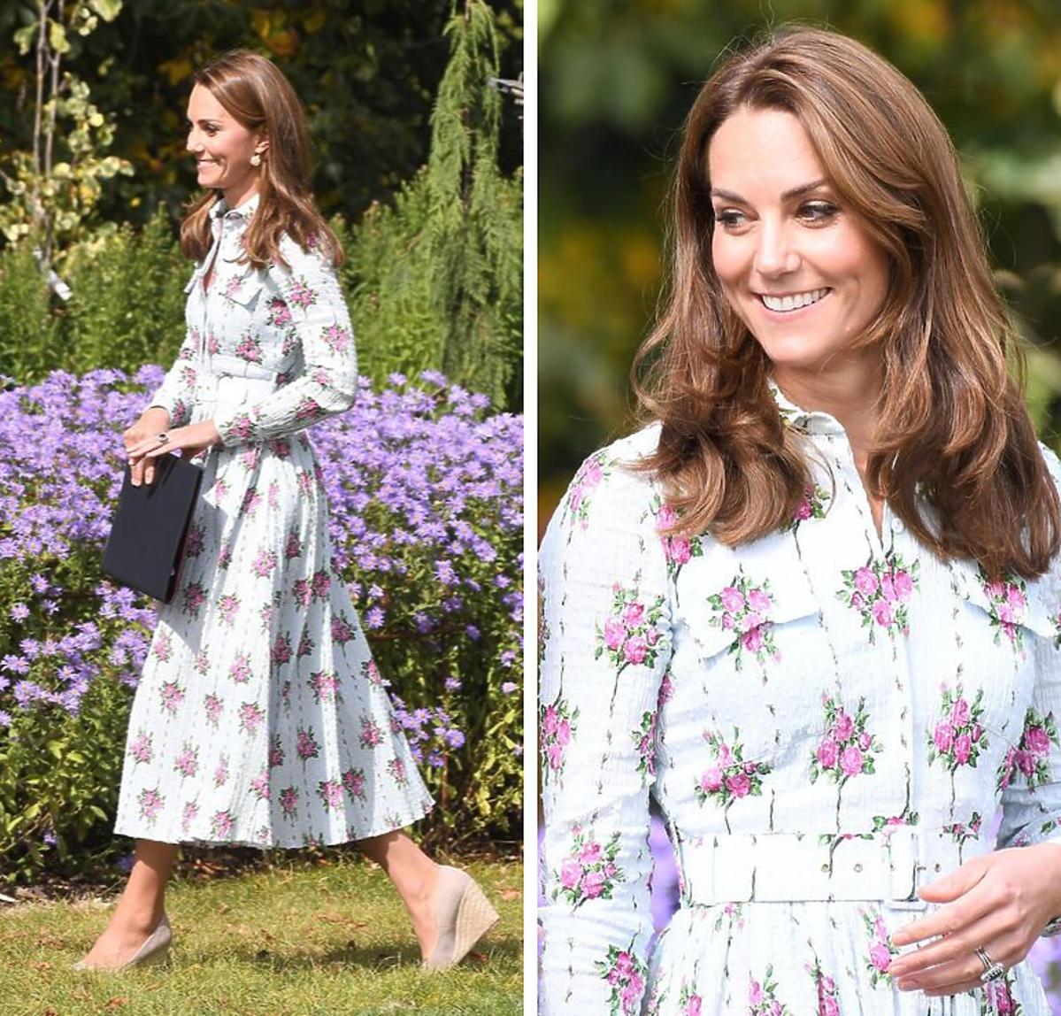 Księżna Kate w sukience w kwiaty