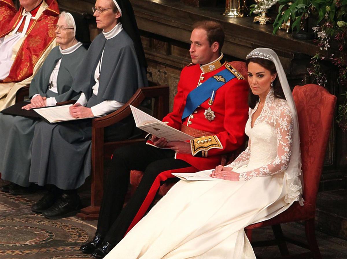 Księżna Kate w sukni ślubnej