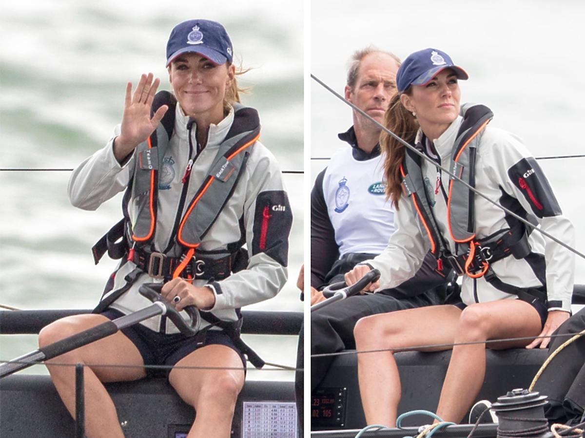 Księżna Kate w szortach, odsłoniła nogi na jachcie