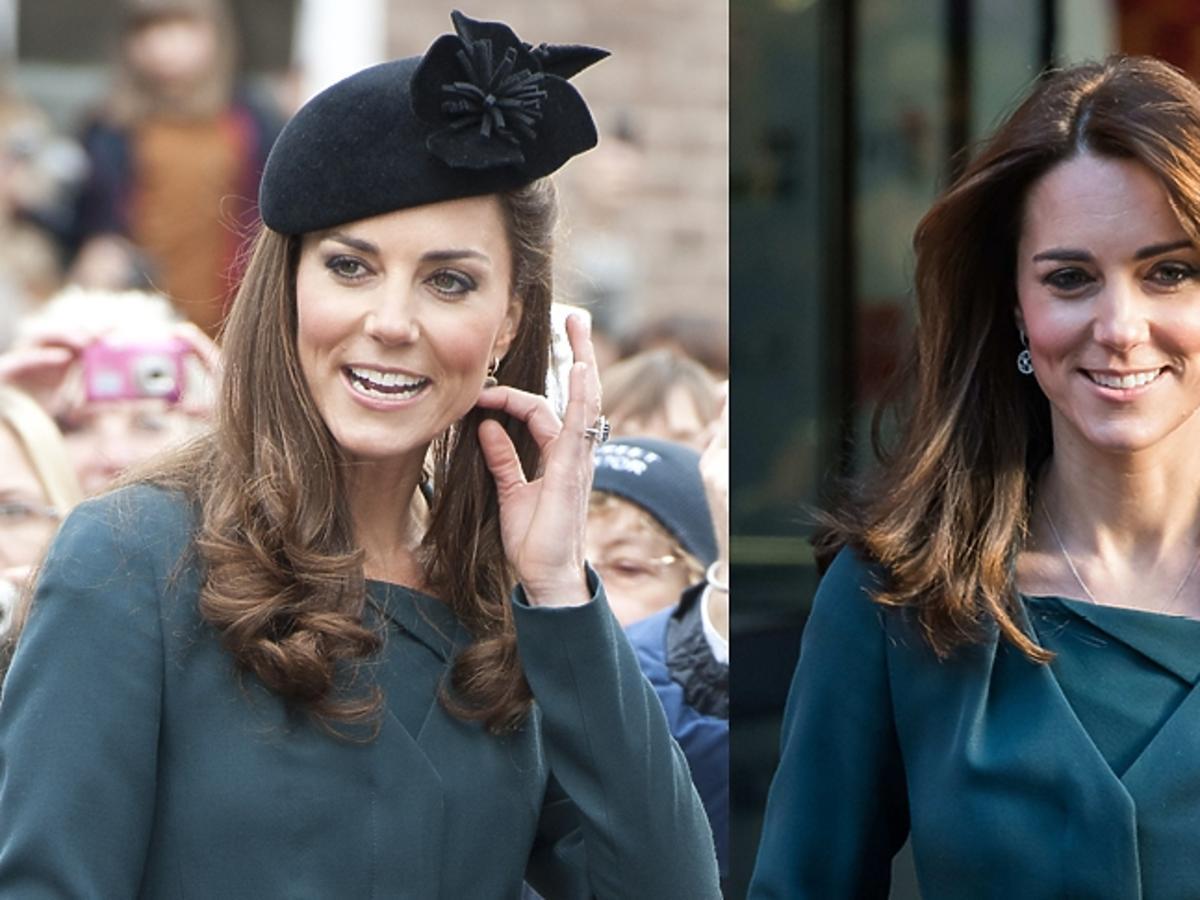 Księżna Kate w tym samym zielonym żakiecie na dwóch imprezach