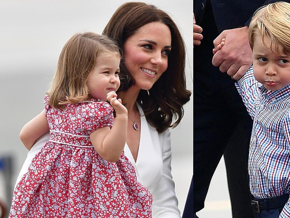Księżna Kate z dziećmi na lotnisku