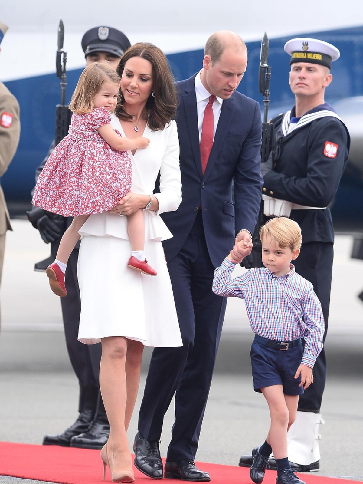 księżniczka Charlotte, księżna Kate, książę William, książę George