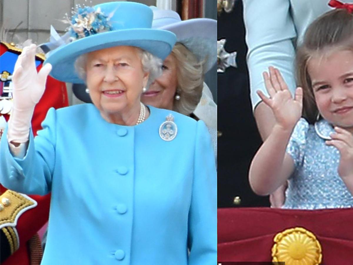 Księżniczka Charlotte na urodzinach królowej Elżbiety II