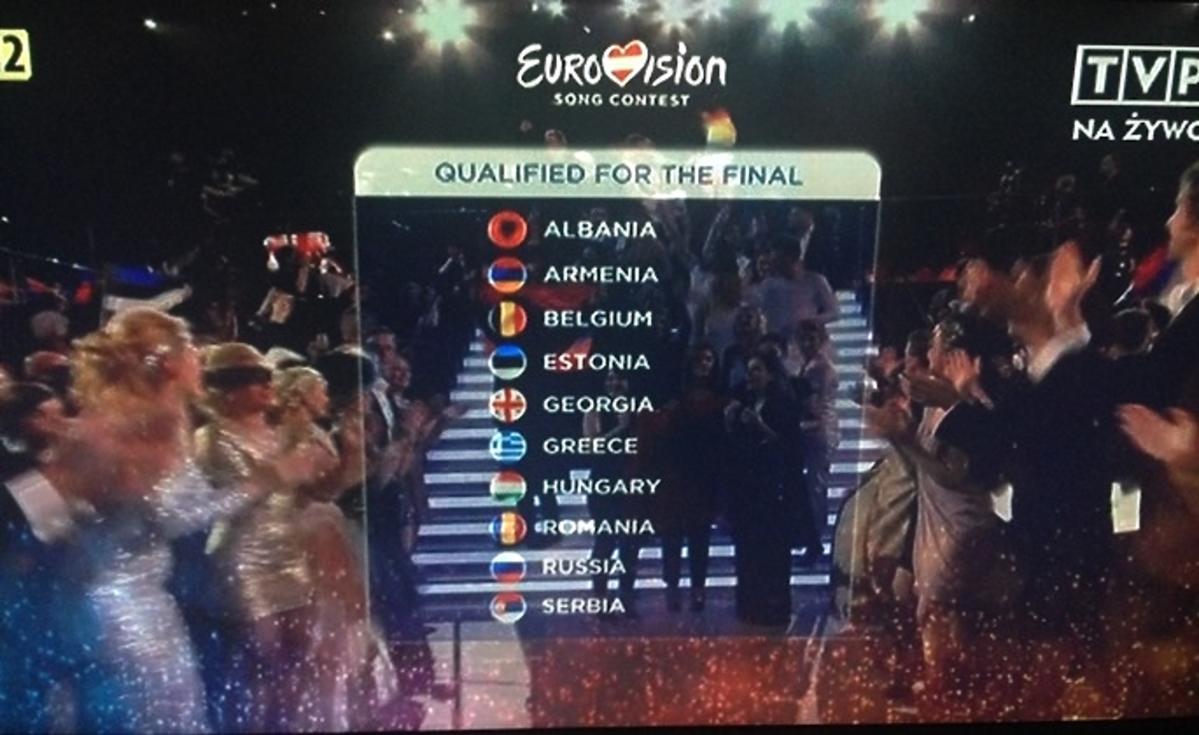 Kto awansował do finału Eurowizji 2015 po pierwszym półfinale?