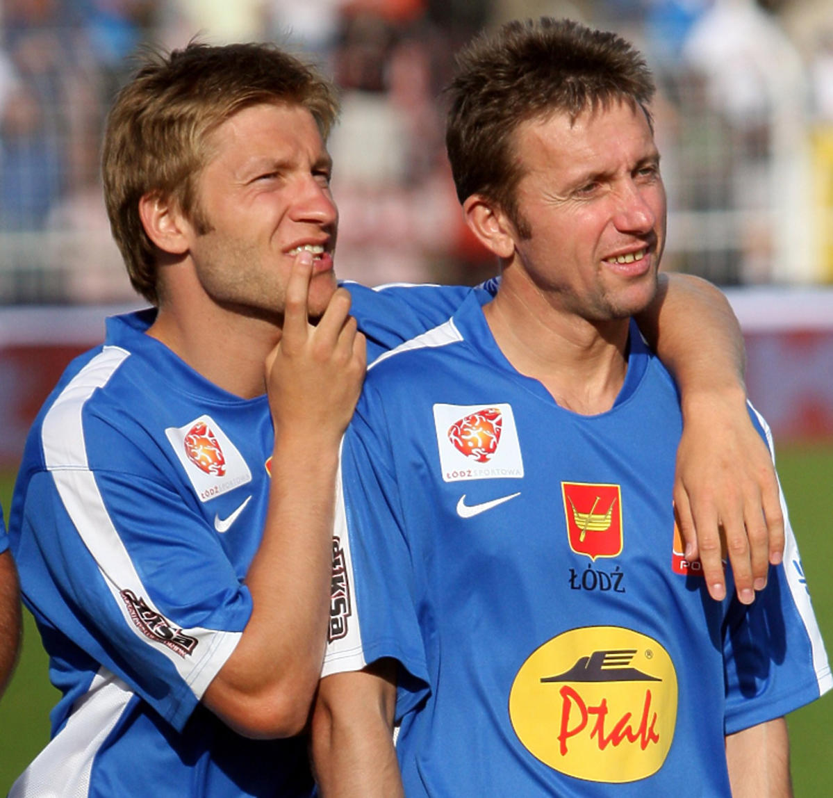 Kuba Błaszczykowski i Jerzy Brzęczek podczas meczu w 2009 roku