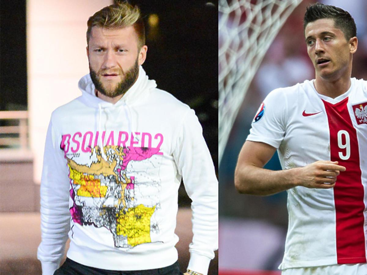 Kuba Błaszczykowski i Robert Lewandowski podczas meczu