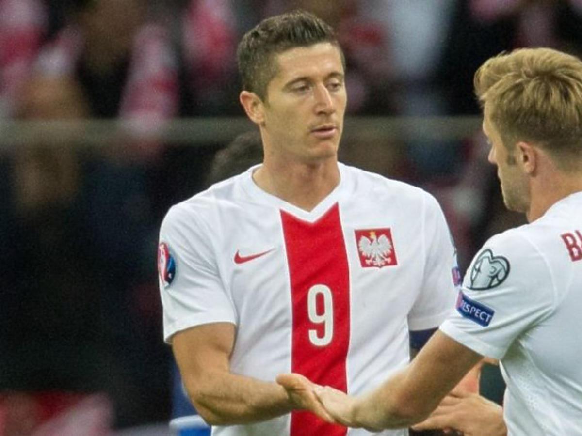 Kuba Błaszczykowski i Robert Lewandowski podczas meczu reprezentacji Polski