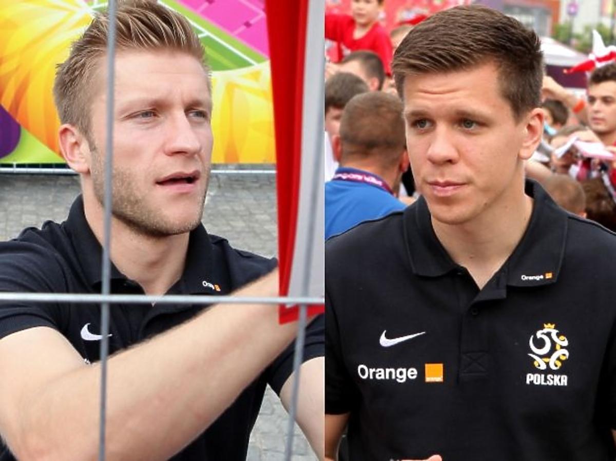Kuba Błaszczykowski i Wojciech Szczęsny w Strefie Kibica