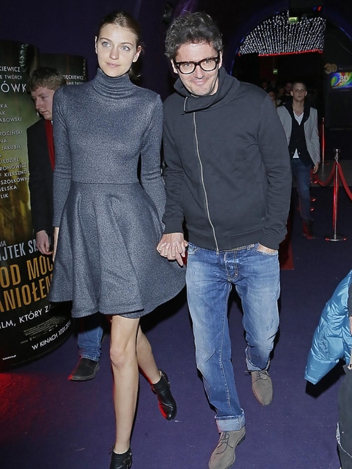 Kuba Wojewódzki i Renata Kaczoruk na premierze filmu Pod Mocnym Aniołem