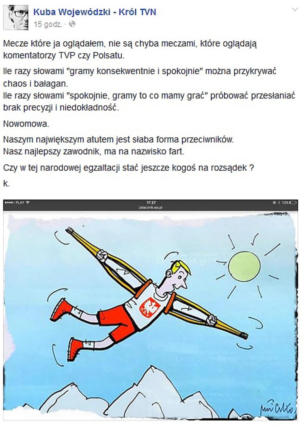 Kuba Wojewódzki krytykuje Reprezentację Polski na EURO 2016