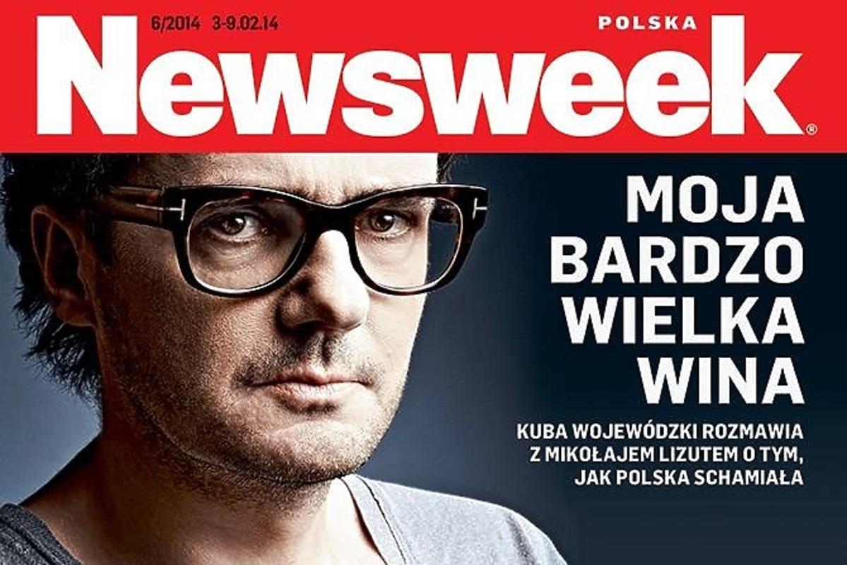 Kuba Wojewódzki na okładce Newsweeka