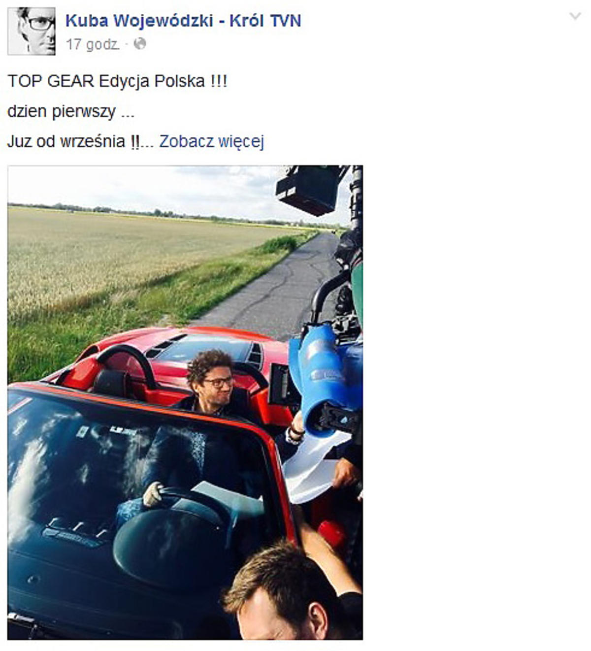 Kuba Wojewódzki poprowadzi Top Gear Polska?