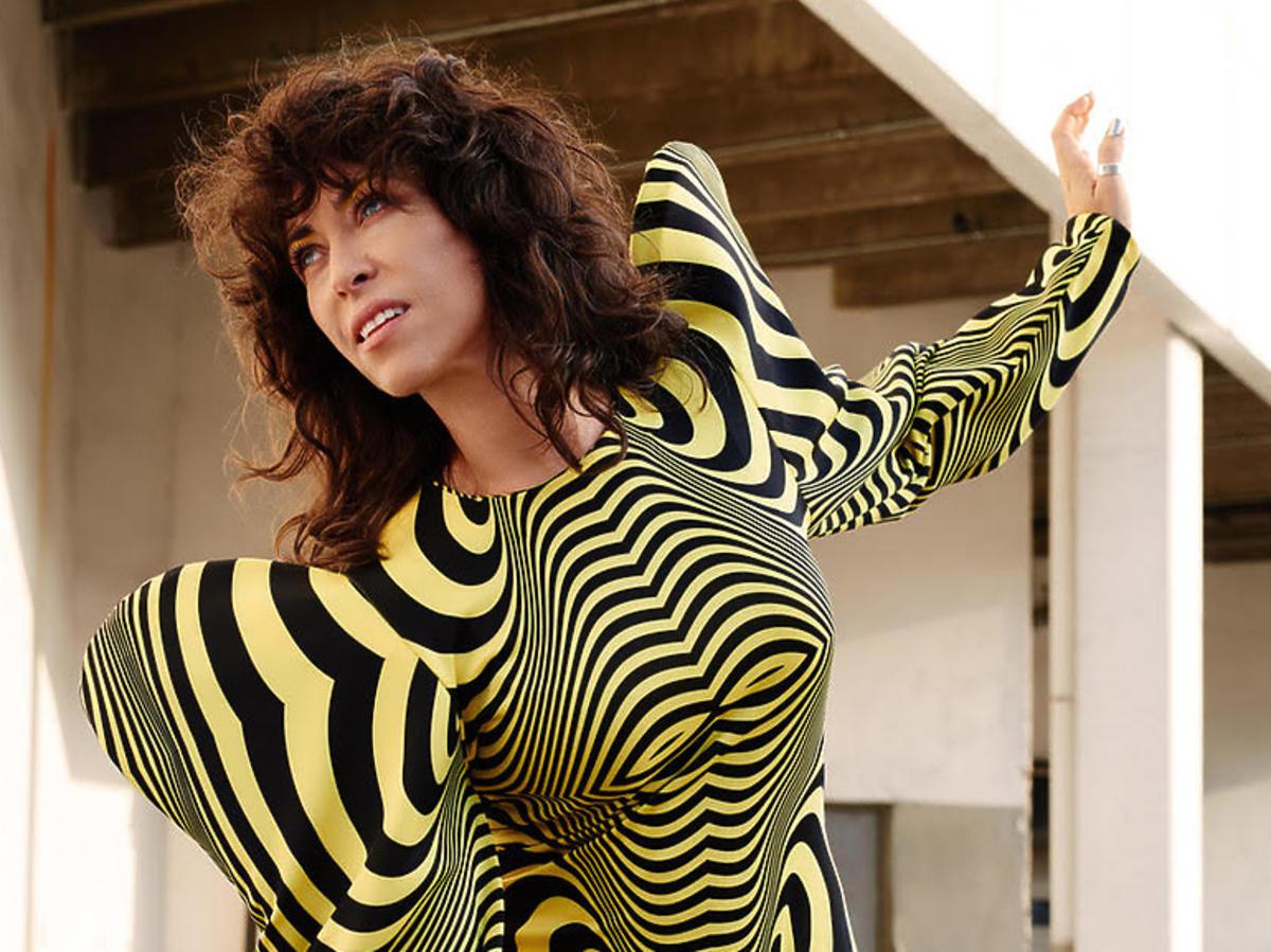 Natalia Kukulska w żółto czarnej sukience