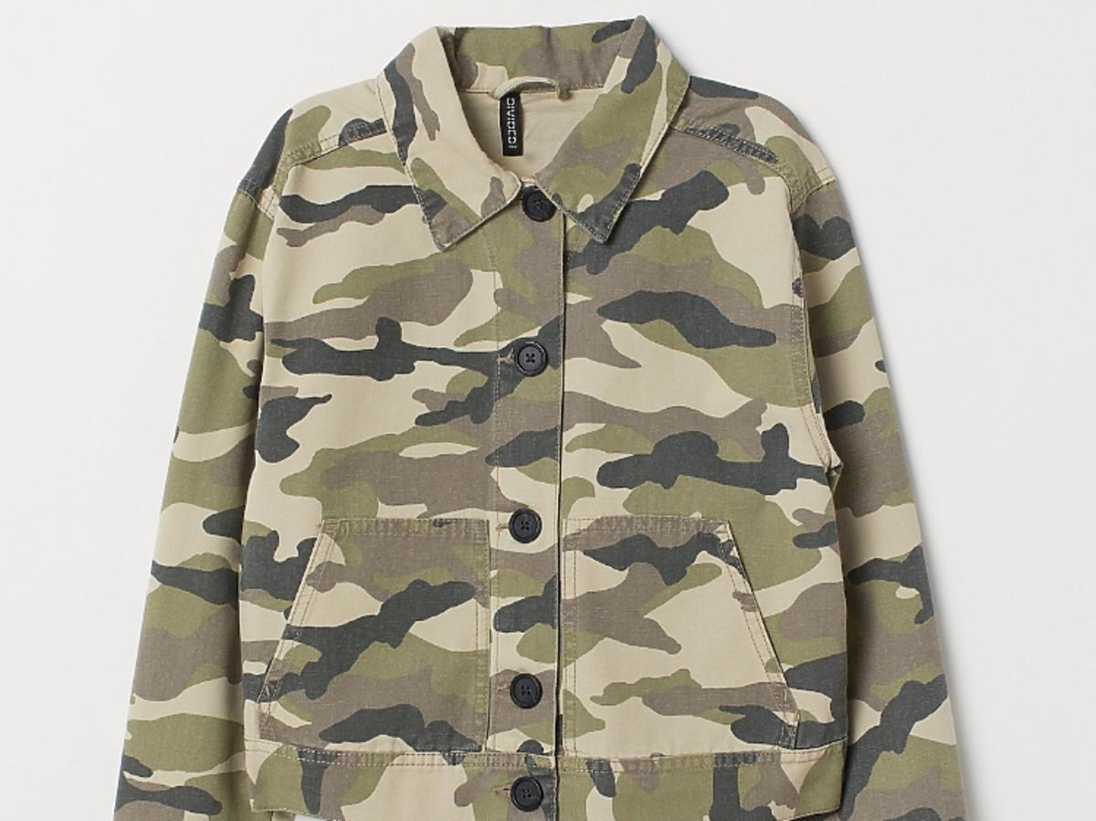 kurtka wzór moro H&M