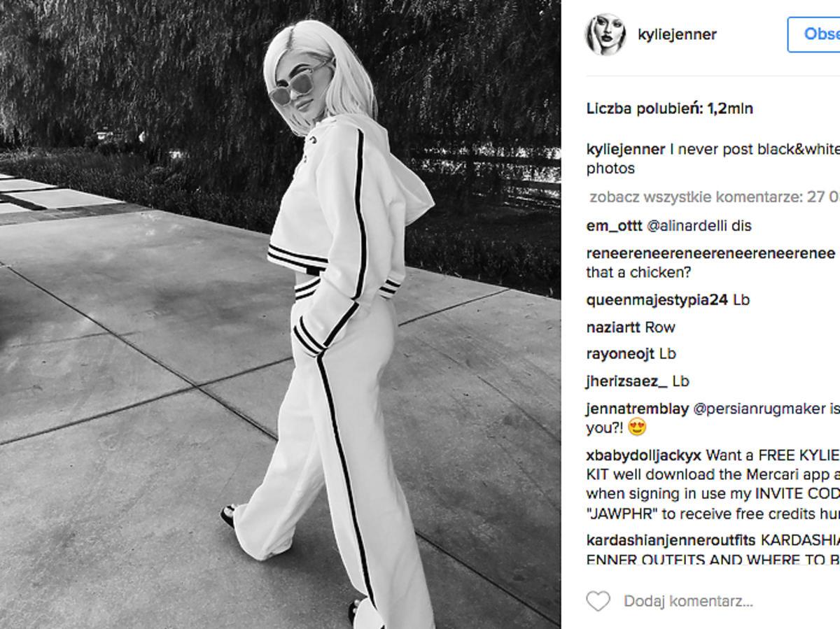 Kylie Jenner w dresie