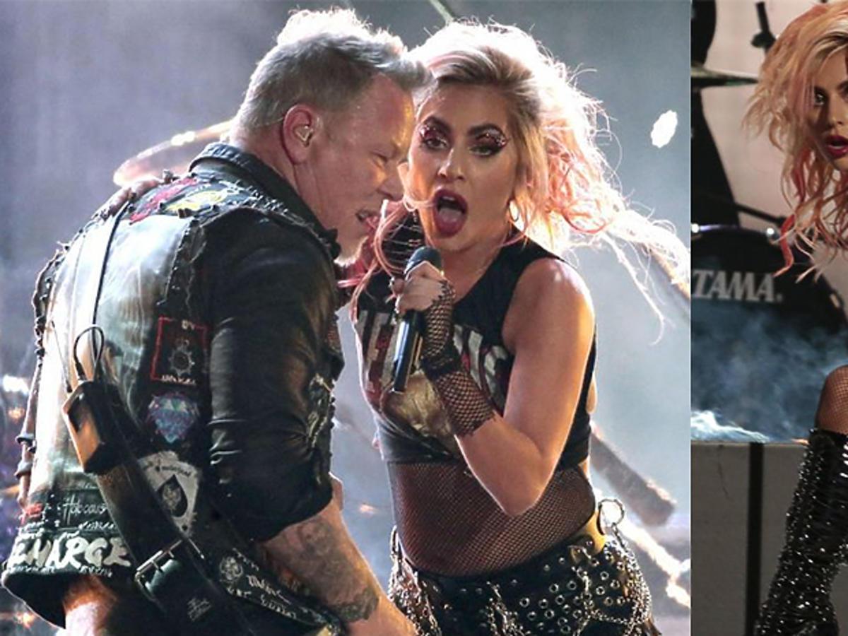 Lady Gaga w mocnym makijażu