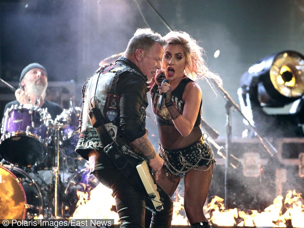 Lady Gaga z wokalistą Metallici