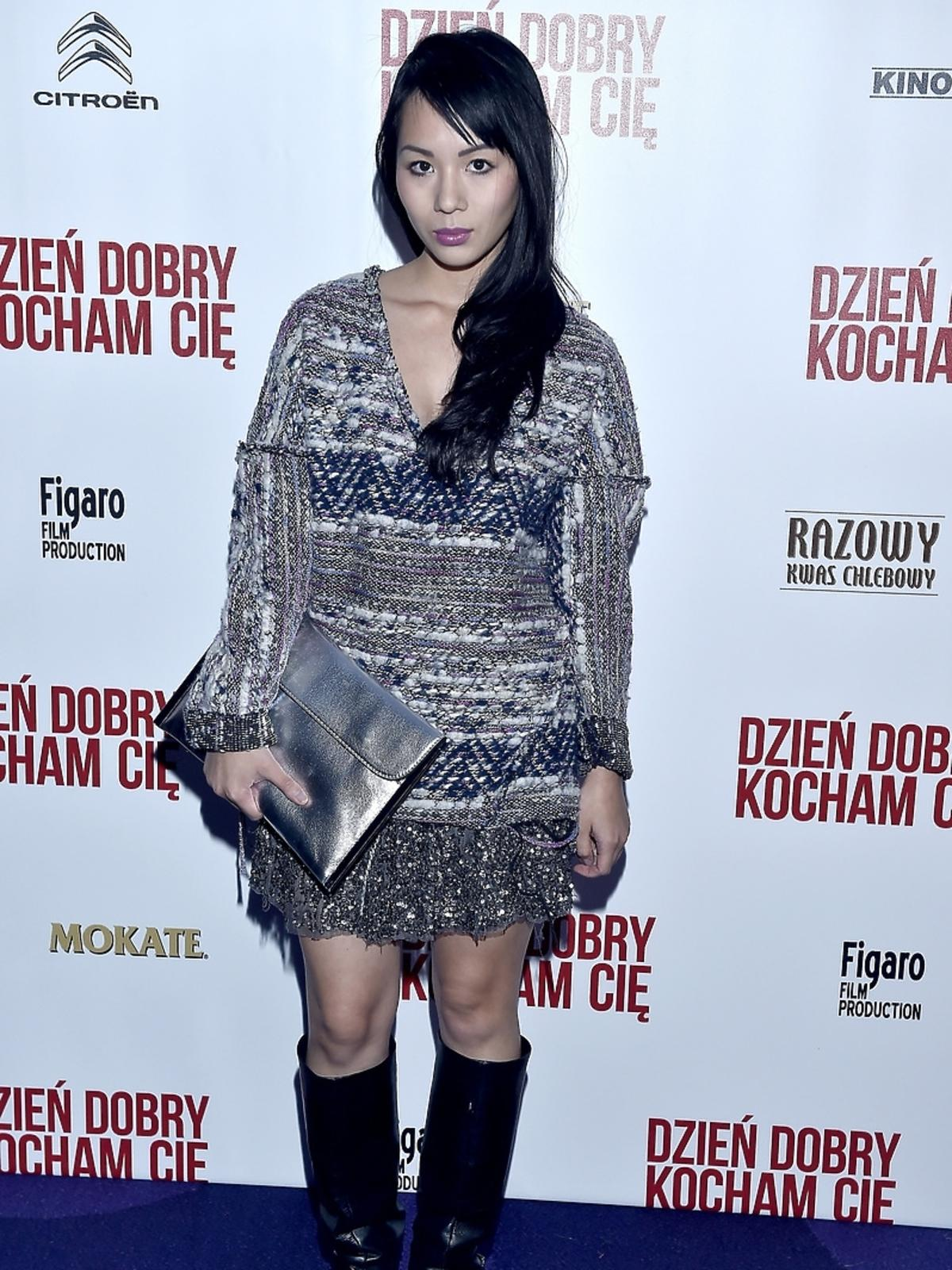 Lana Nguyen na premierze filmu