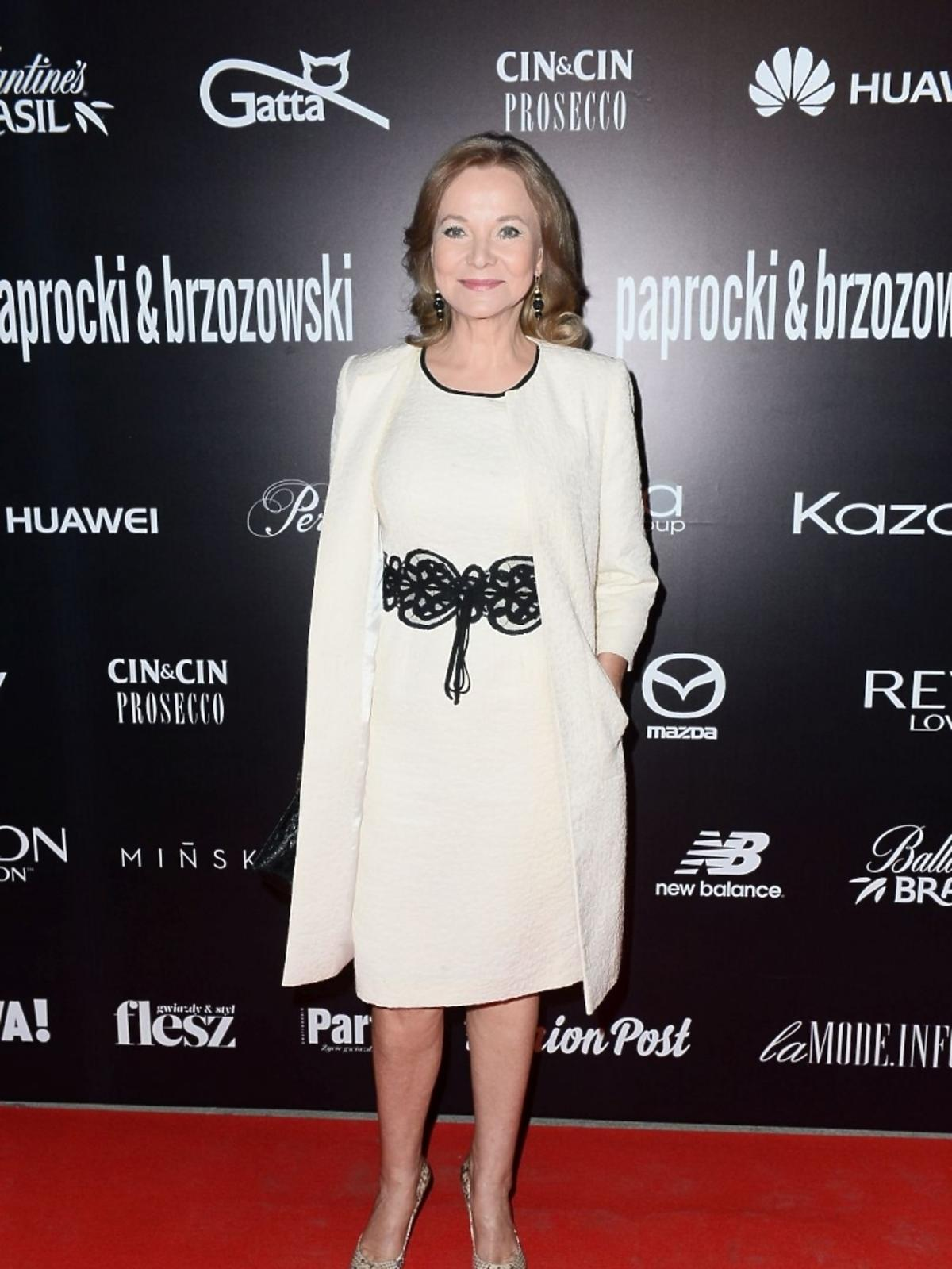 Laura Łącz na pokazie duetu Paprocki&Brzozowski