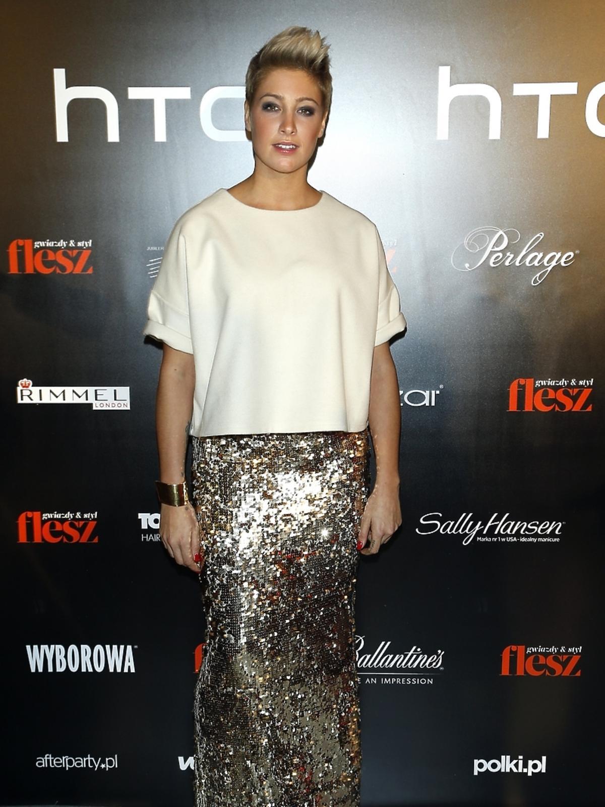 Laura Samojłowicz na imprezie Flesz Fashion Night