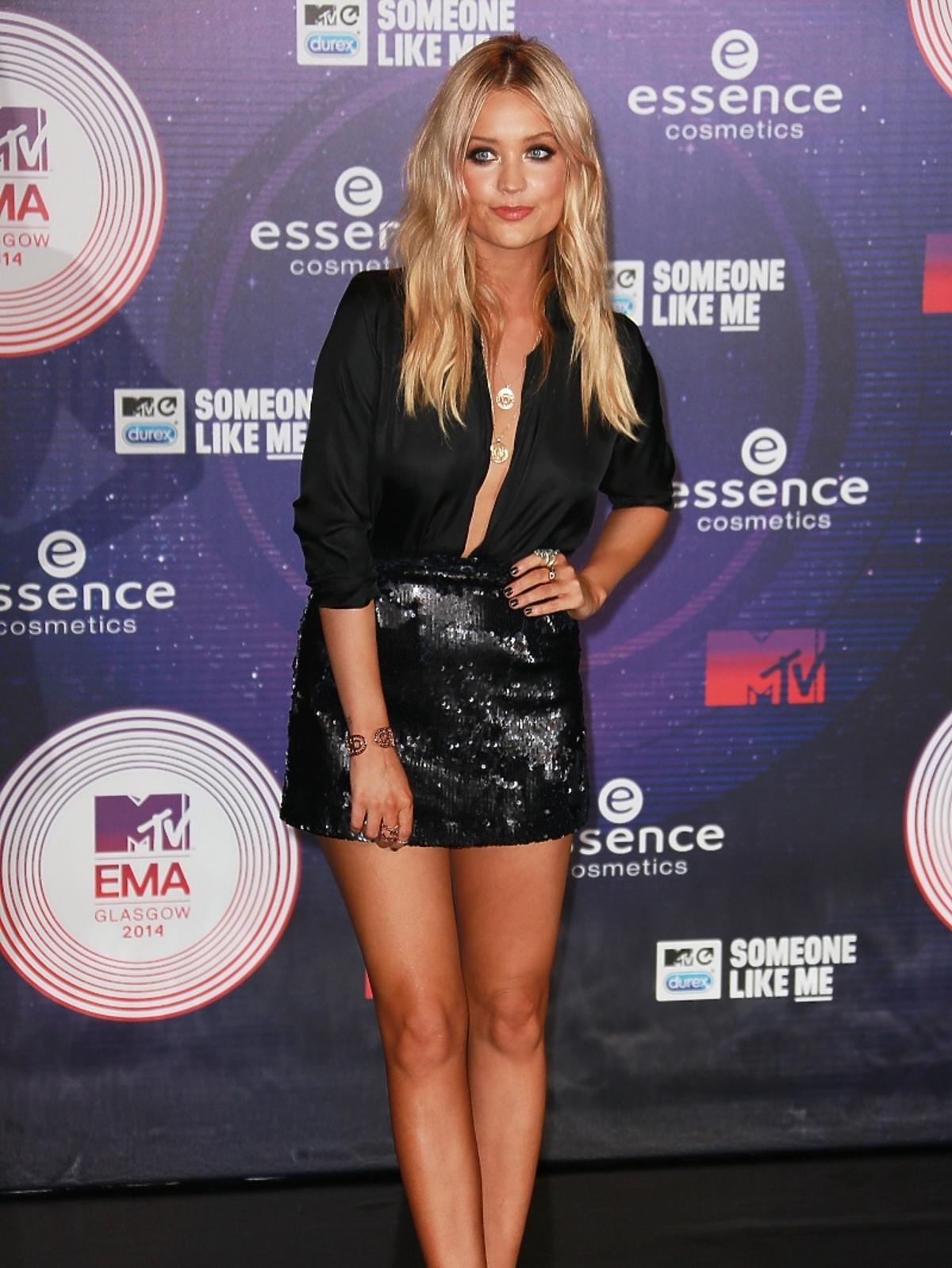 Laura Whitmore na MTV EMA 2014 w Glasgow