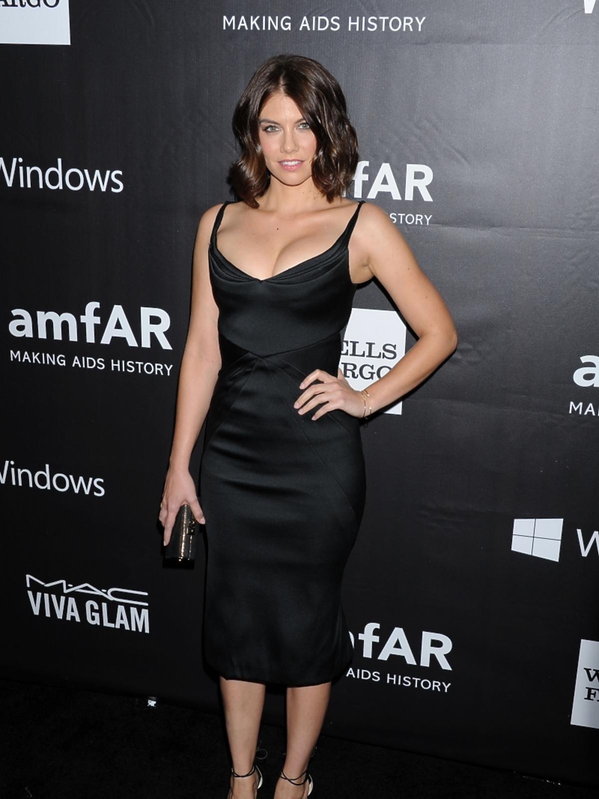 Lauren Cohan na amfAR LA Inspiration Gala 2014