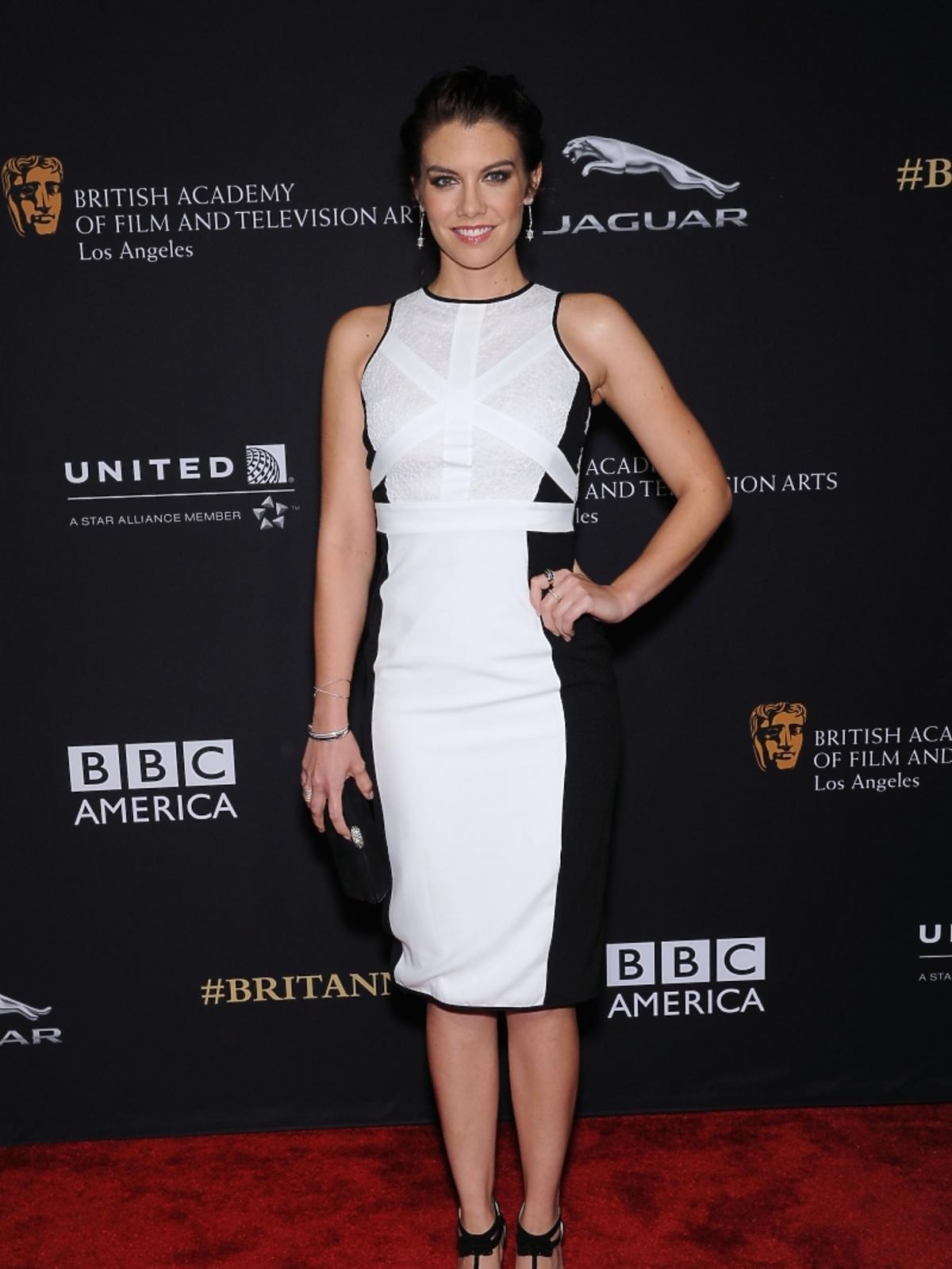 Lauren Cohan na rozdaniu nagród BAFTA