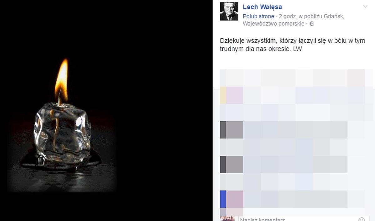 Lech Wałęsa o śmierci syna